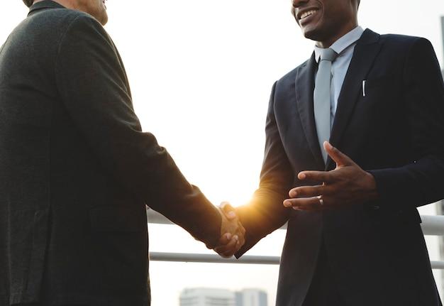 Concept de personnes de connexion de communication d'entreprise