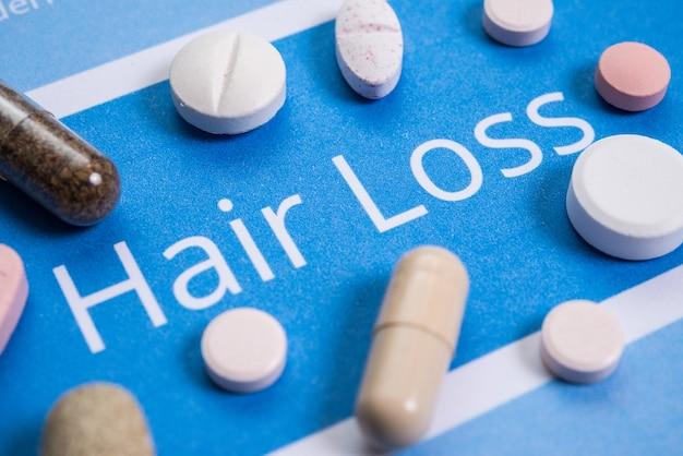 Concept de perte de cheveux