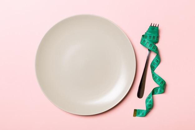 Concept de perte de poids avec un espace vide pour votre idée.