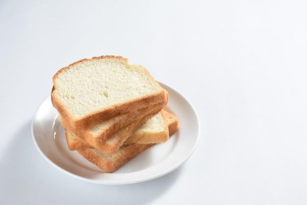 Concept de petit déjeuner pain blanc toast