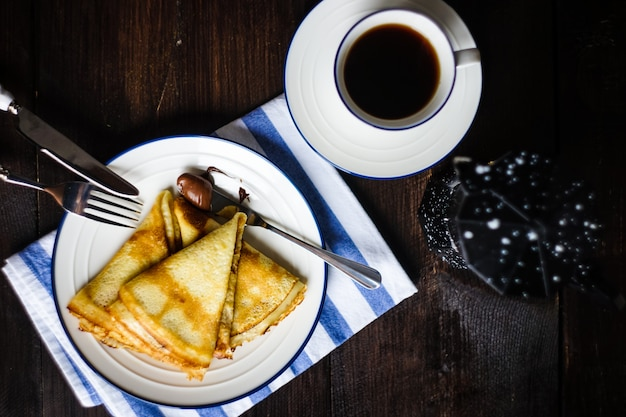 Concept de petit déjeuner traditionnel