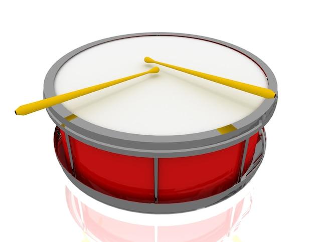 Concept de petit tambour. illustration de rendu 3d