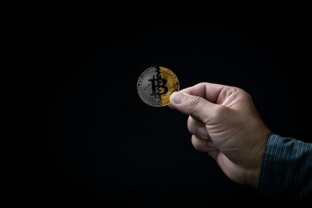 Concept de photo bitcoin monnaie numérique