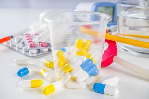 Concept de pilules de médecine pharmaceutique
