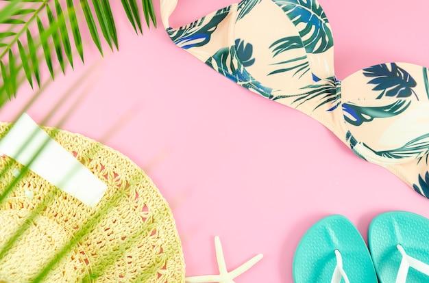 Concept de plage à plat d'été