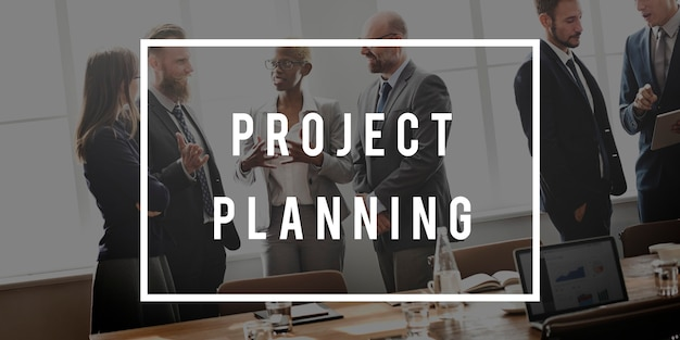 Concept de plan de personnes qui travaillent