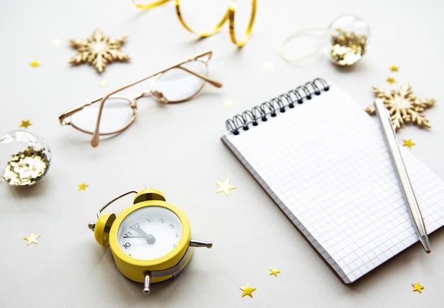 Concept de planification du nouvel an