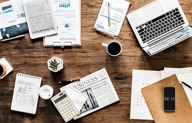 Concept plat de business