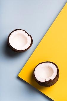 Concept plat de noix de coco