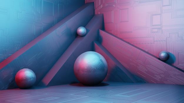 Concept de podium de formes géométriques simples