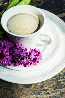 Concept de printemps avec des fleurs lilas