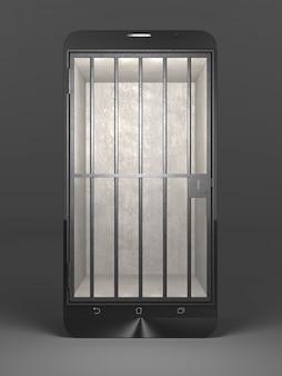 Concept de prison smartphone