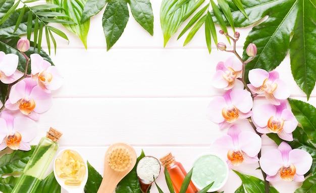 Concept de produits cosmétiques d'aromathérapie spa