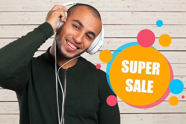Concept de promotion de super vente