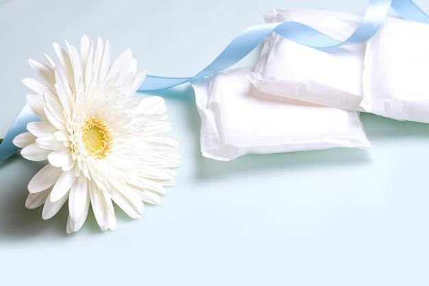 Le concept de protection pendant le cycle menstruel. protège-slips.