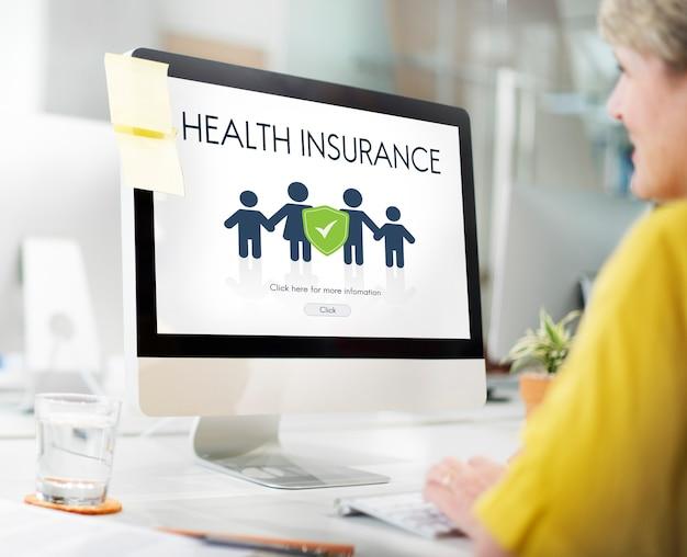 Concept de protection de remboursement d'assurance familiale