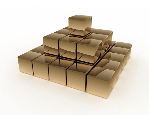 Concept de pyramide abstraite 3d