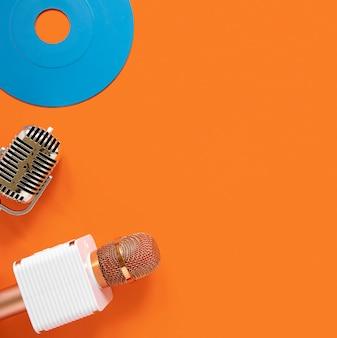 Concept radio avec vieux disque
