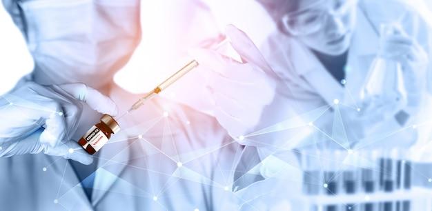 Concept de recherche et de développement de vaccins pour tests médicaux contre le coronavirus covid-19