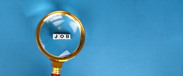 Concept de recherche d'emploi, image panoramique