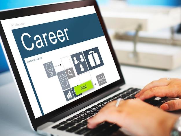 Concept de recherche d'emploi recrutement des professions de carrière
