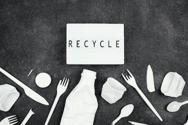 Concept de recyclage plat