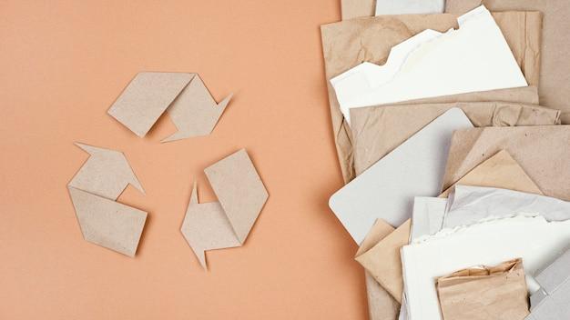 Concept de recyclage à plat