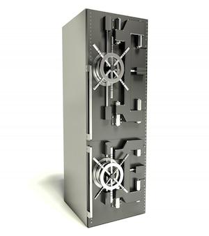 Concept de régime. réfrigérateur sous forme de coffre-fort