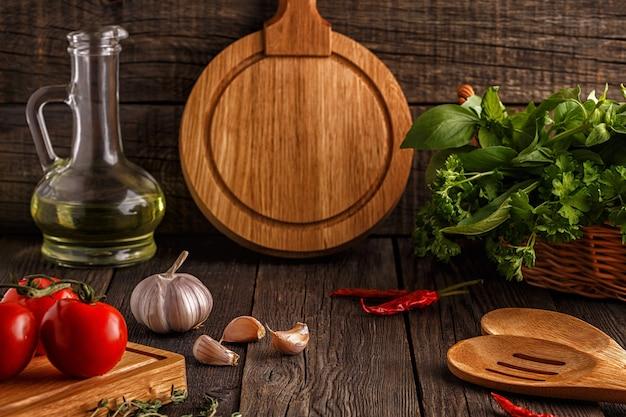 Concept de régime végétarien avec des légumes, des herbes et des épices