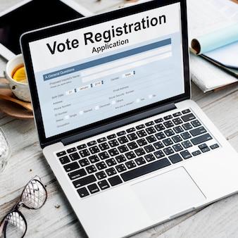 Concept de remplissage de document électoral de vote