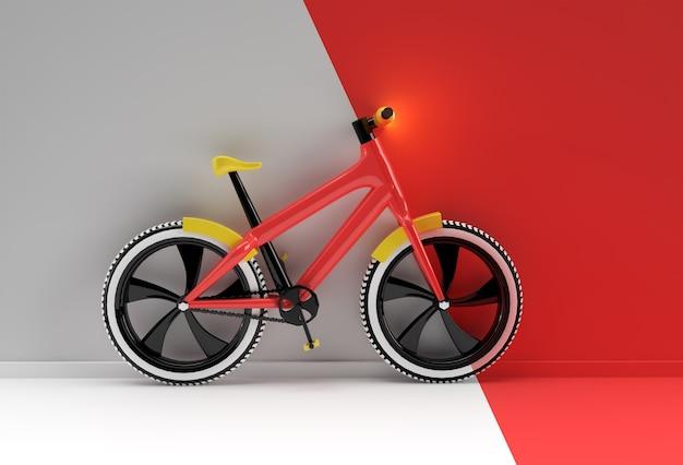 Concept de rendu 3d de cyclisme moderne illustration de conception d'art 3d.