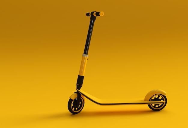 Concept de rendu 3d du scooter à poussée unique pour les enfants illustration de la conception de l'art 3d.