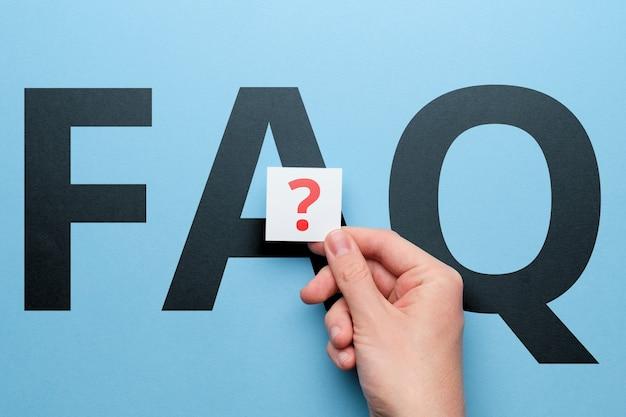 Concept de réponses aux questions fréquemment posées.