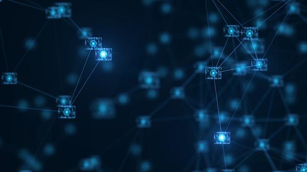 Concept de réseau de chaînes de blocs.