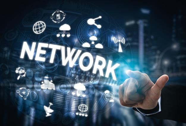 Concept de réseau de médias sociaux et de jeunes