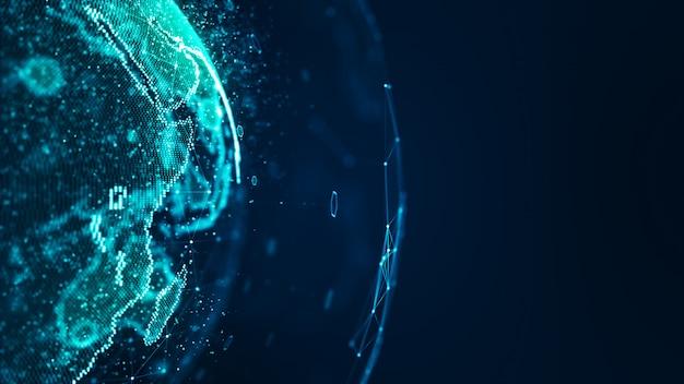 Concept de réseau mondial connecté.