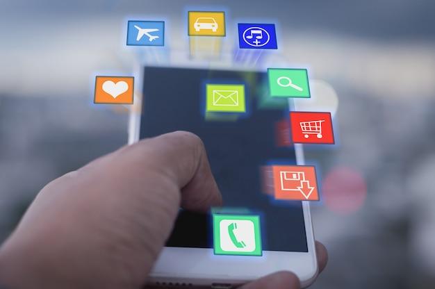 Concept de réseau social et mobile