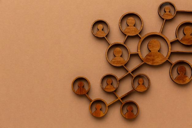 Concept de réseautage abstrait arrangement de nature morte