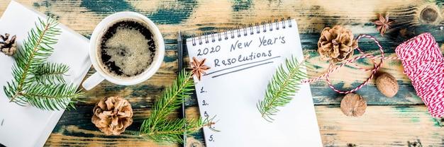 Concept de résolution du nouvel an