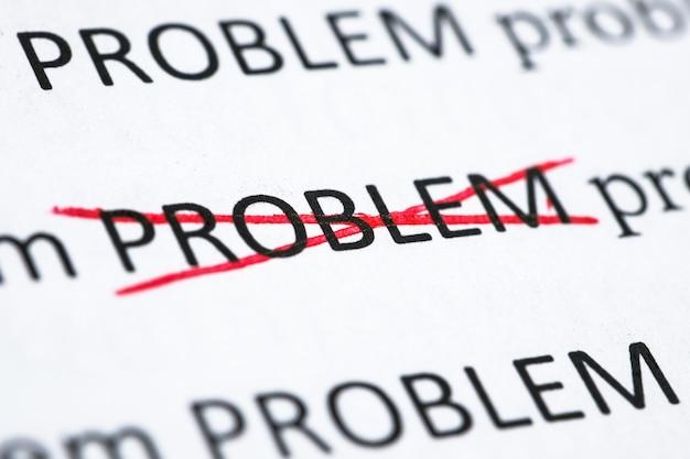 Concept de résoudre l'un des problèmes. le mot