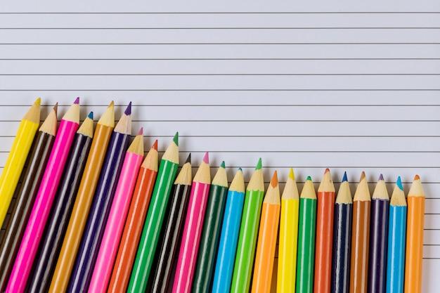 Concept de retour à l'école, fournitures scolaires pour l'école