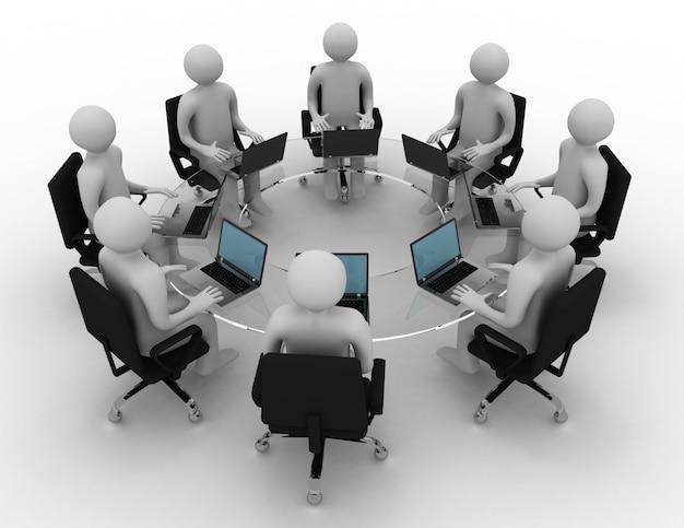Concept de réunion d'affaires. illustration de rendu 3d