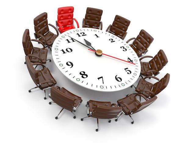 Concept de réunion d'affaires ou de remue-méninges. 3d