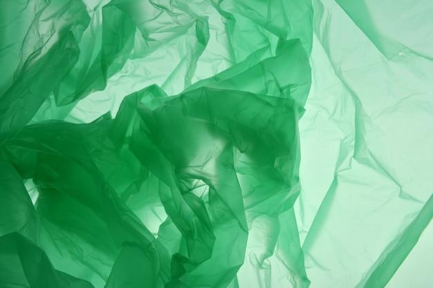 Concept de sac en plastique. polyéthylène sous forme de fumée