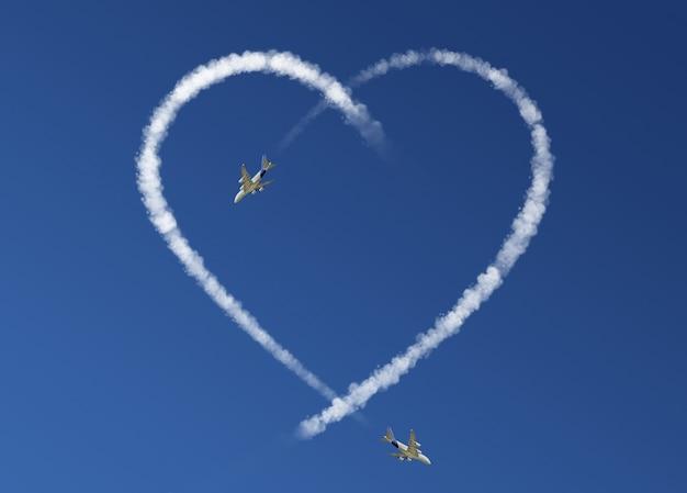 Concept de saint valentin nuages de coeur