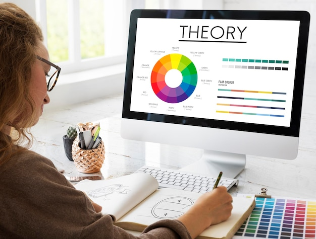 Concept de schéma de couleurs du graphique graphique de la théorie