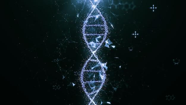 Concept de science technologique abstraite, structure de code adn.