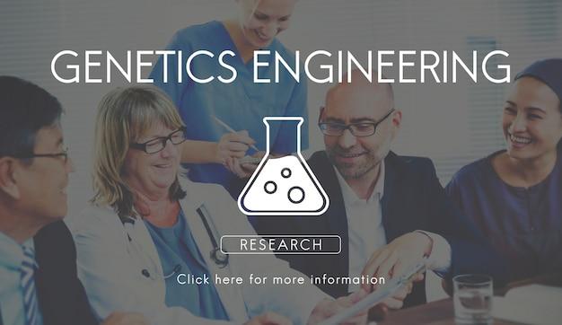 Concept scientifique de biochimie génétique