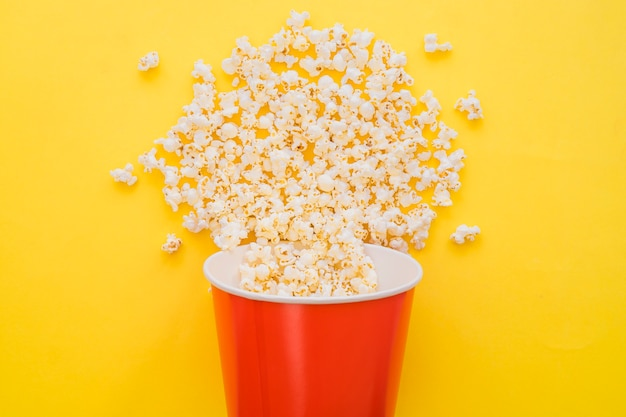 Concept de seau à popcorn