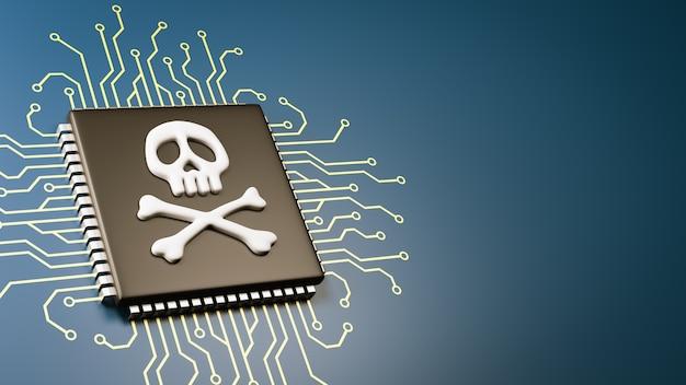 Concept de sécurité de bogue de processeur informatique